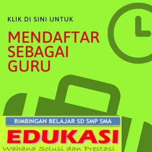 Formulir Pendaftaran Guru Bimbel Edukasi